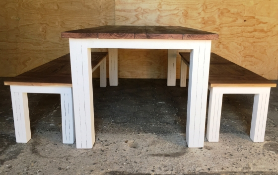 Patio table Chunky Cottage series 2000 Combo 3 Two tone