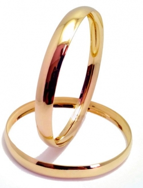 9CT GOLD 8MM C SHAPED BANGLES  -  Yellow Gold