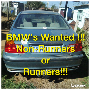 Spot cash for all non-running BMW's