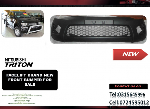 Mitsubishi Triton Facelift Brand New Front bumpers for sale price R1750