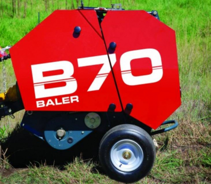 S1547 Red Staalmeester B70 Mini Round Baler / Ronde Baler New Implement