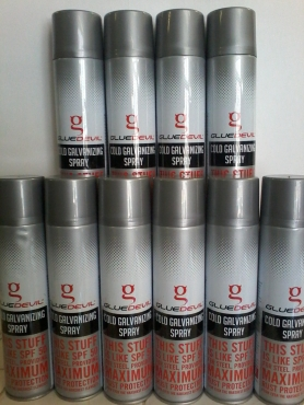 Galvanising zinc spray Glue Devil
