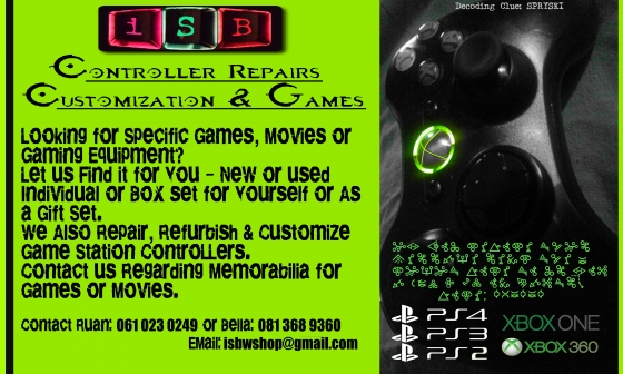 iSB Controller Repairs & Customization & Games