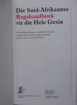 Die Suid-Afrikaanse Regshandboek vir die hele gesin - Readers Digest