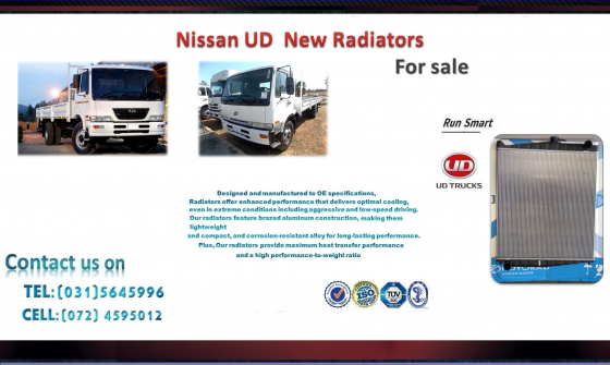 Nissan ud 60 ,d70, ud80, ud 90,ud 95 new truck Radiators for sale R3300 -->>