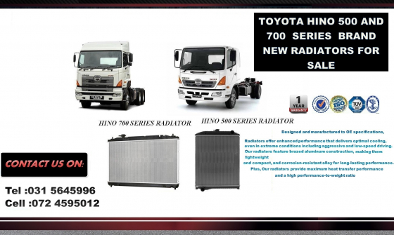 Toyota Hino 500 series New Radiators for sale R3900