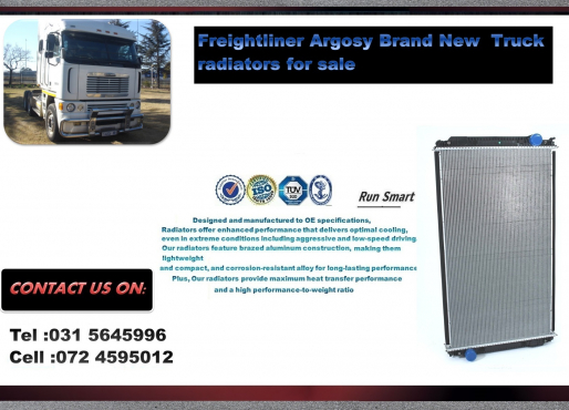 freightliner Argosy Brand New Radiators price- R7900