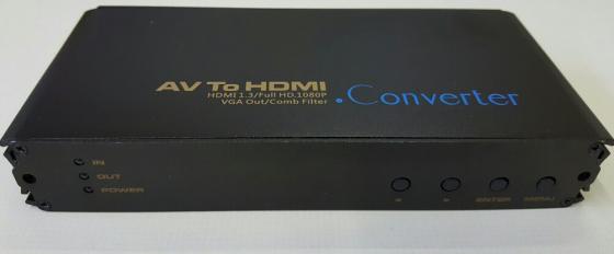 AV to HDMI & VGA Converter New
