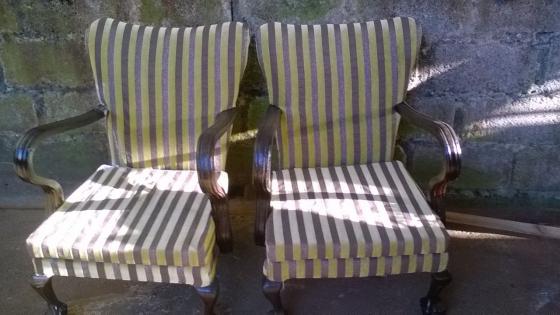 reupholstered lounge set for sale