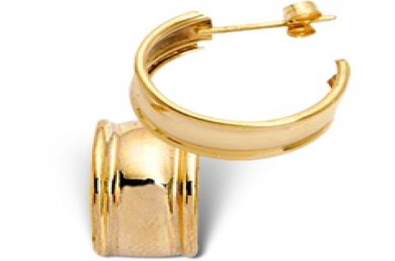 9CT SOLID YELLOW GOLD HOOP EARRINGS