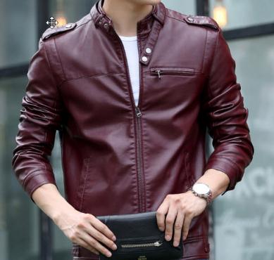 aed8dc659 Mens Slim Fit Genuine Leather Jacket - Burgundy colour | Junk Mail