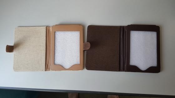 Kindle E reader Cover :Tuff-Luv Eco-nique Natural Hemp Kindle Cover (White Paper)