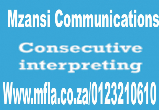 Professional consecutive interpretation services in Mpumalanga