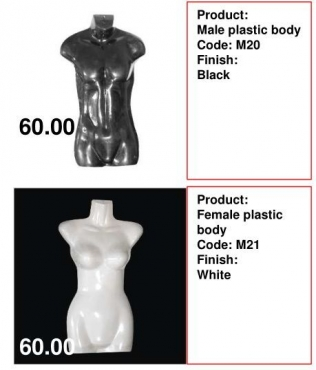 MENS AND LADIES HOLLOW MANNEQUIN R60.00