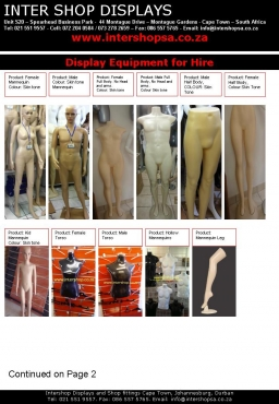 All sorts of Mannequins, Clothing Rails, Hangers, Shop fittings, Displays Stands, Shelving, Pegboard