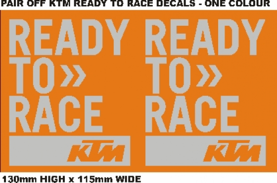 pair off ktm ready to race decals stickers graphics junk mail