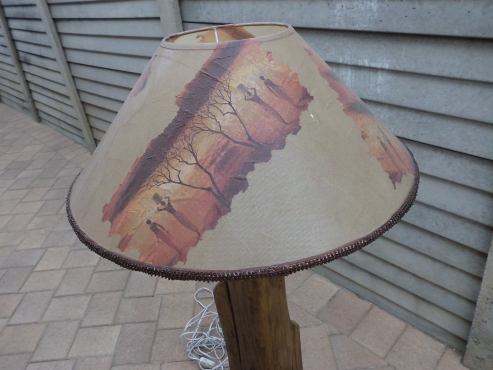 Log Furniture Lamp For Sale