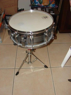 Rogers Snare Drum On Stand