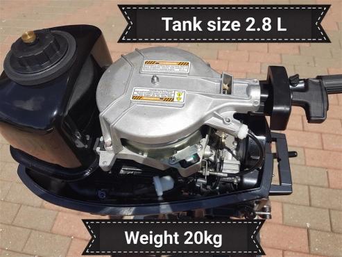 5 HP Outboard Motor New with 2 Year warrantee.Titan 2 Stroke