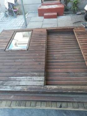 2*2 meters Wendy house comes with toilet in wood floor