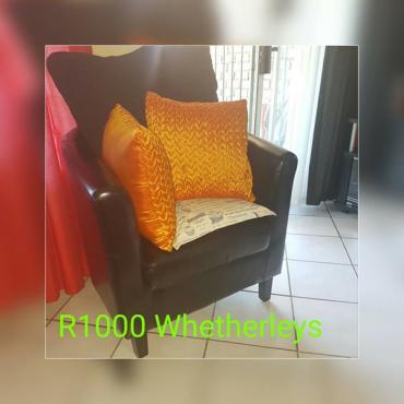Whetherleys leather chair
