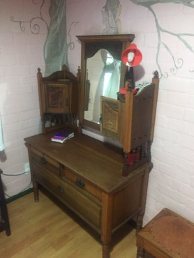 Beautiful Dressing Table with side cupboards