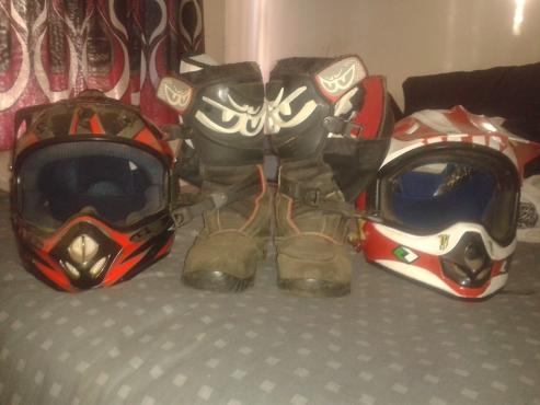 Both helmets & boots