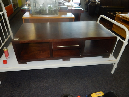 Two Drawer Wooden Coffee Table