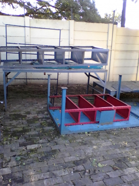 Steel workbenches / tables. Good condition.