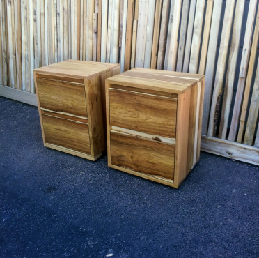 Tall Boy Side Tables with 2 Drawers