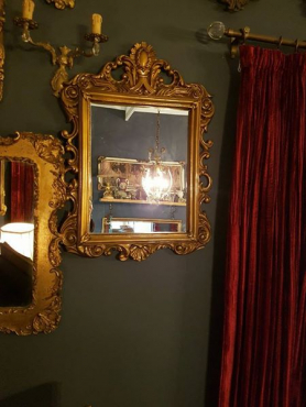 Gold ornated mirror