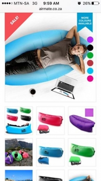 Airmate inflatable couches x 2