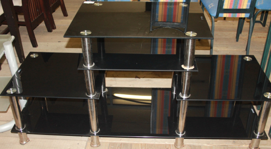 Glass tv stand S0264