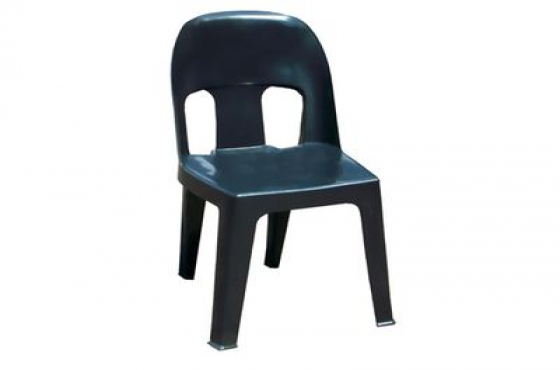 HEAVY DUTY BLACK PLASTIC CHAIRS