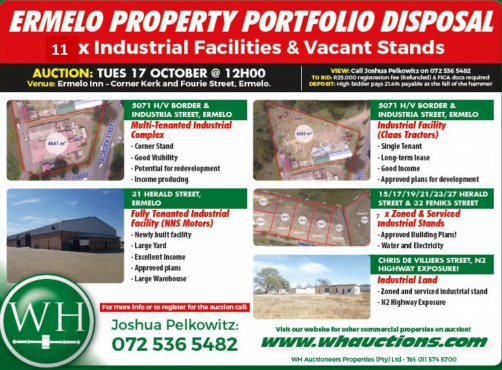 AUCTION- Ermelo Industrial Property Portfolio Disposal