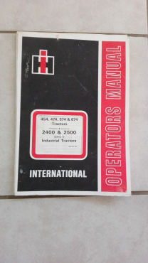 International old tractors: 454, 474, 574, 674: manual