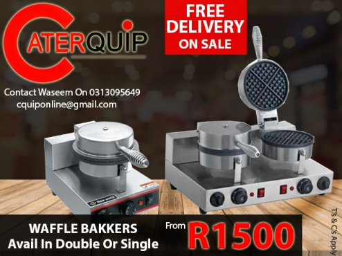 Double Or Single Waffle Bakkers | Save Up To R500 + Free Delivery