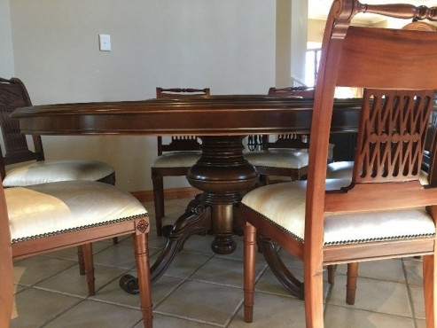 Italian Handcrafted Solid Wood Dining Room Set for sale