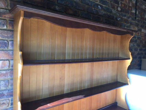 Wall unit. Solid Yellow wood and Imbuia.