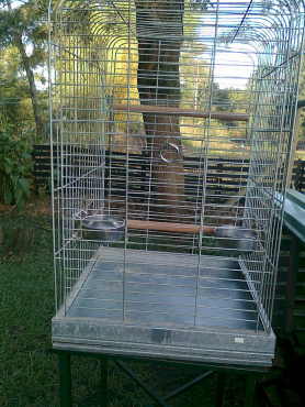 Parrot cage with stand .