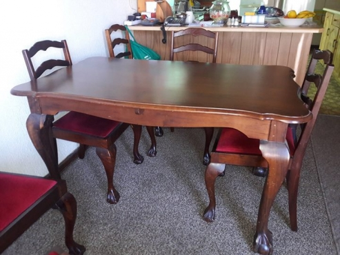 Amazing 1 Imbuia Ball Claw Dinning Table 6 Chairs 1 Sideboard Machost Co Dining Chair Design Ideas Machostcouk
