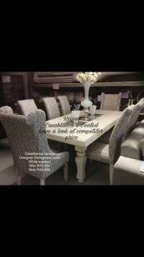 Casablanca 8 seater dining room set