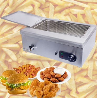 ET-JZL1 - Donut Deep Fryer - Electric Operated Fryer With Tray
