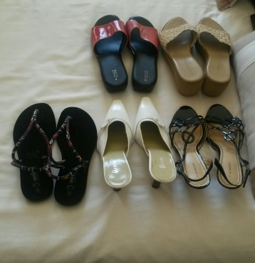 4 pairs new shoes  size 6 and 1 pair sandals size 6 for R 350 or R 80 each.These are flats and high