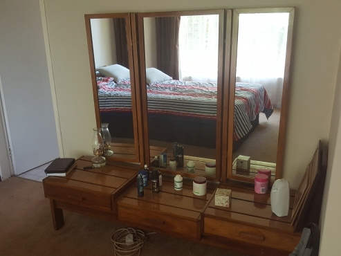 Solid oak bedroom set