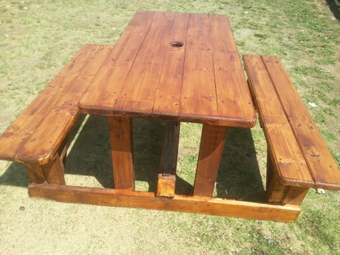 6 SEATED PICNIC BENCHES