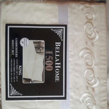 Quality embroidered bed sheets