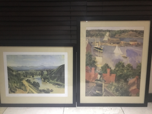 Two framed pictures for sale