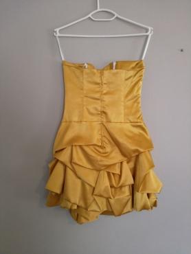 Geel/goud rok