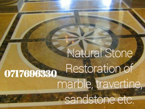 restoration of natural stone tiles.